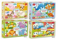 Puzzle pre deti Junior Jungle 4 zvieratká
